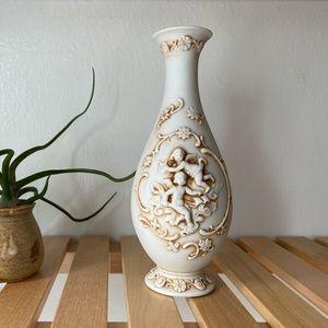 Lefton China Cherubs Angels Bud Vase circa 1940s